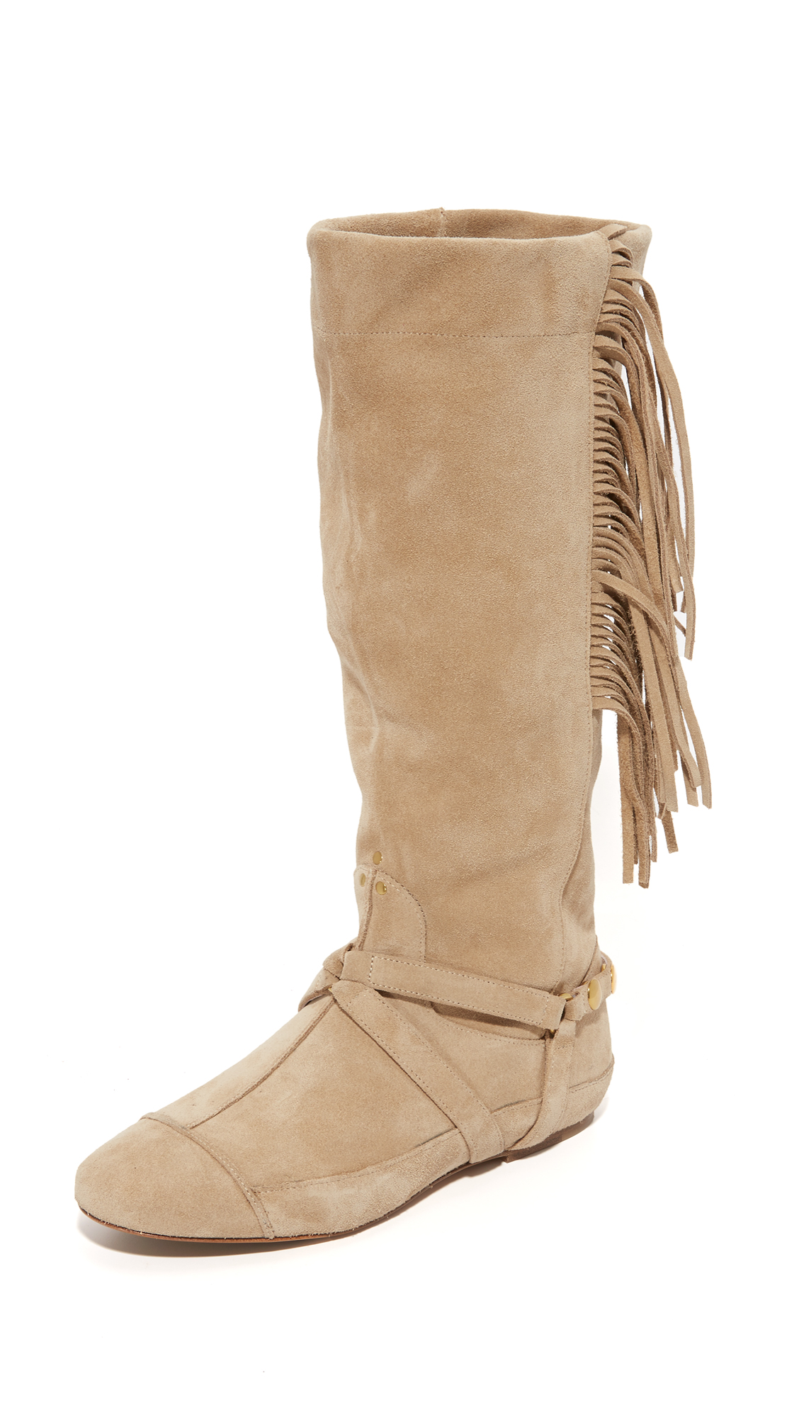 Jerome Dreyfuss Arizona Fringe Boots - Beige
