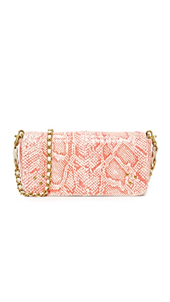 Jerome Dreyfuss Snakeskin Bob Cross Body Bag - Rose