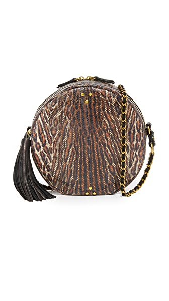 Jerome Dreyfuss Snakeskin Remi Circle Bag - Leopard