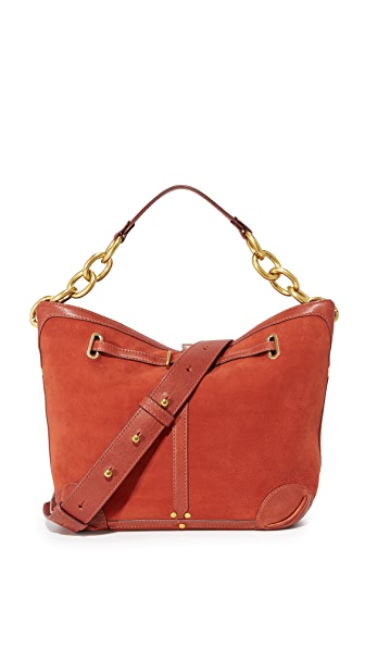 Jerome Dreyfuss Small Tanguy Hobo Bag - Rouille