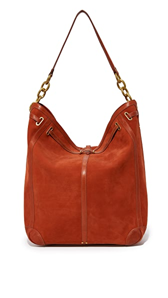 Jerome Dreyfuss Large Tanguy Hobo Bag - Rouille
