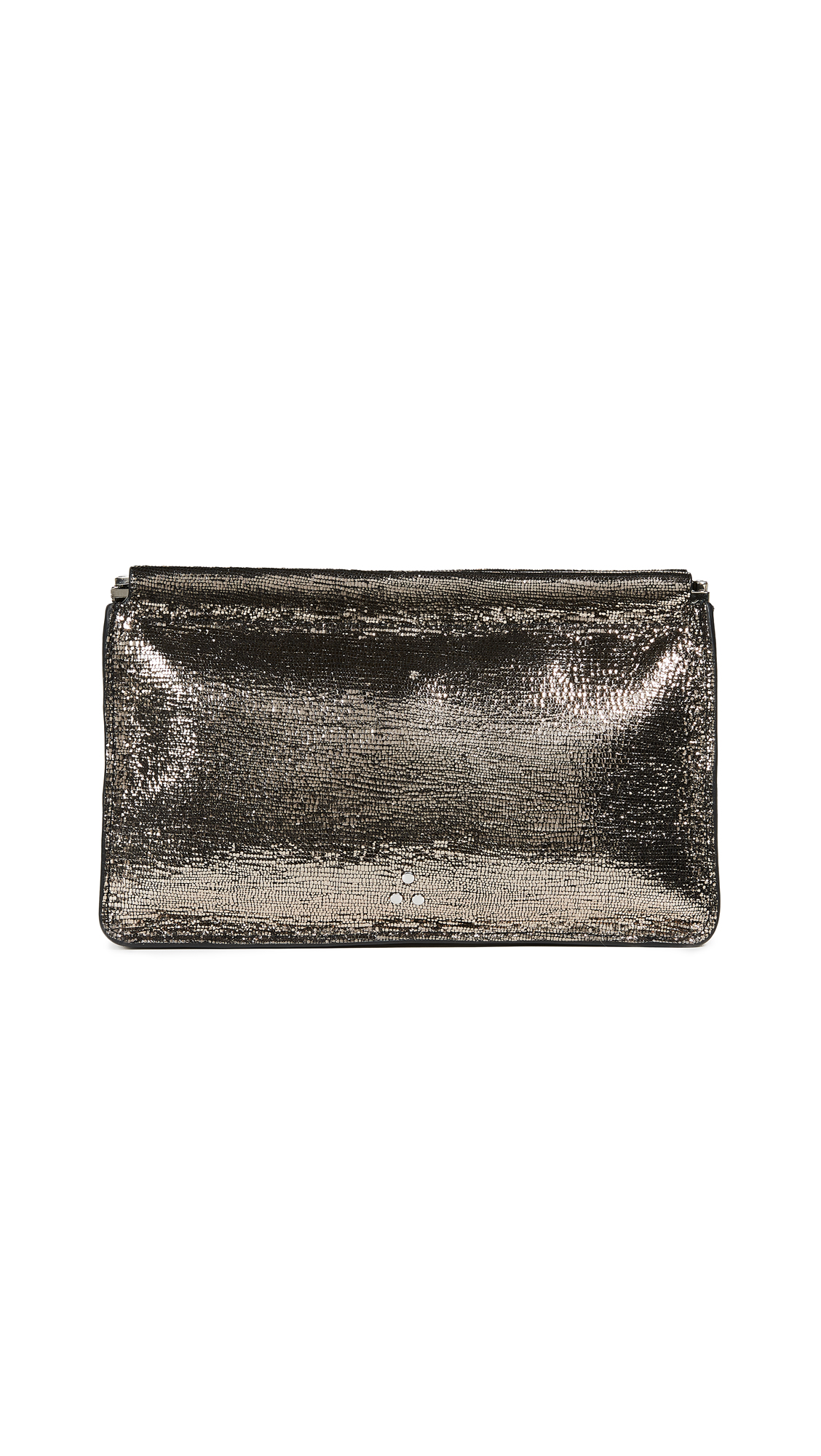 Jerome Dreyfuss Clic Clac Clutch In Champagne