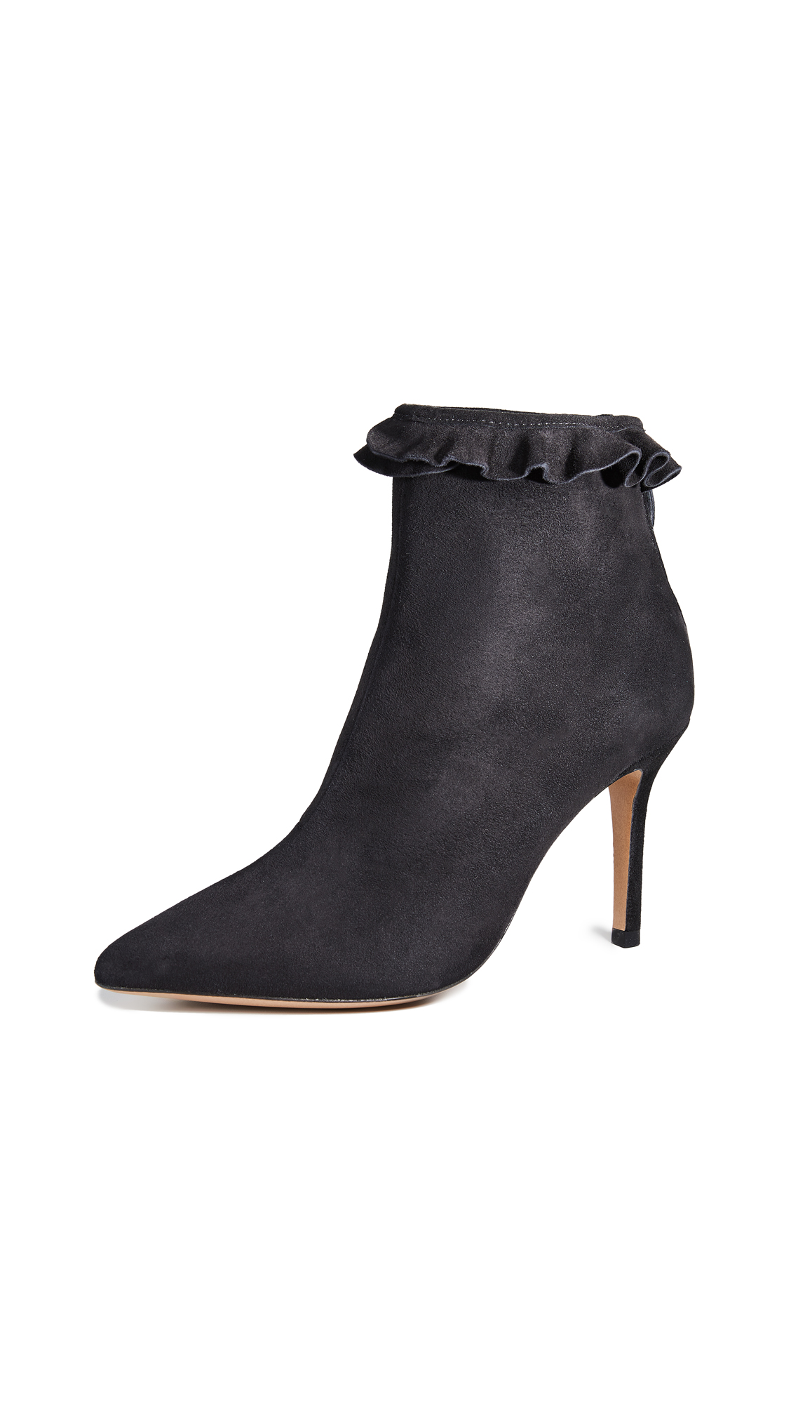 Jerome Dreyfuss Suzy 85 Collerette Booties - Velours Noir
