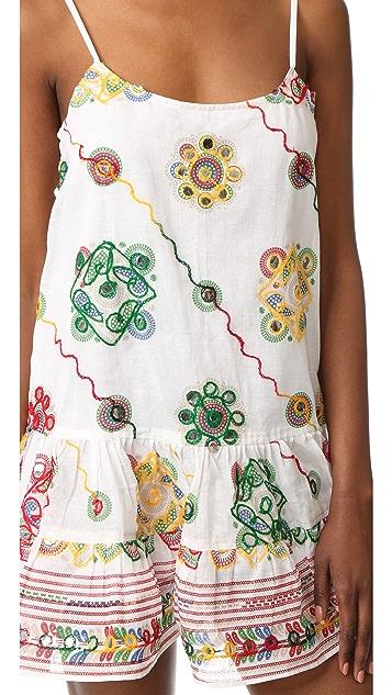 Juliet Dunn Embroidered Cover Up Dress