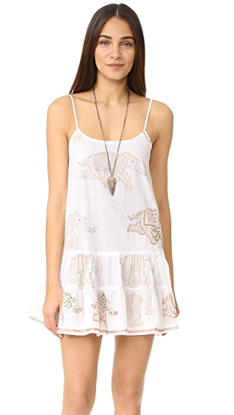 Juliet Dunn Cami Dress with Elephants