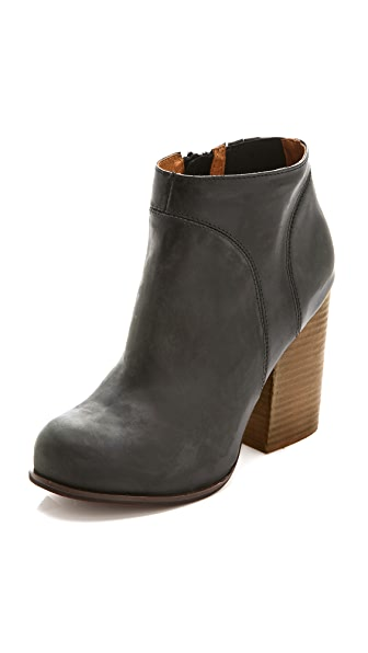 Jeffrey Campbell Hanger Leather Booties In Black