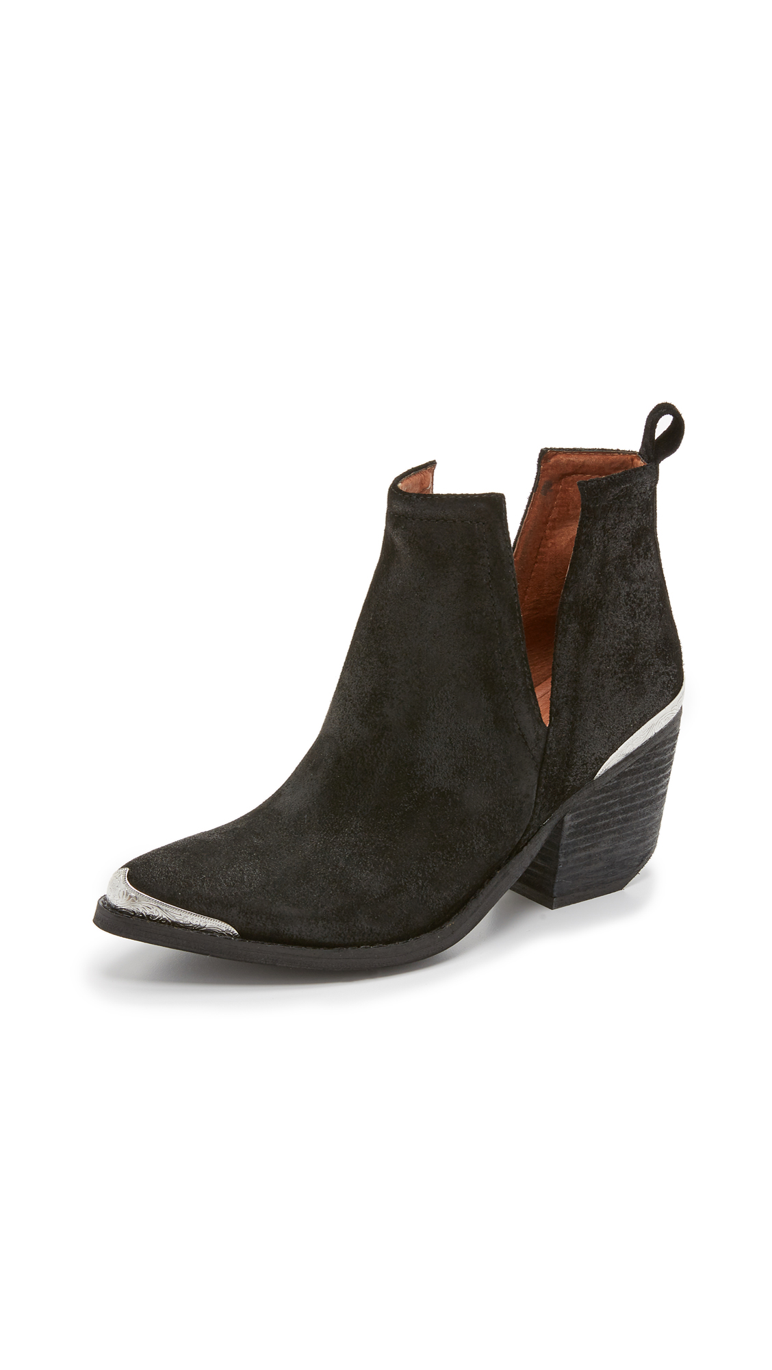 Jeffrey Campbell Cromwell Suede Booties - Black
