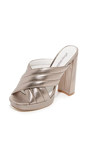 Jeffrey Campbell Kenobi Platform Mules - Pewter at Shopbop