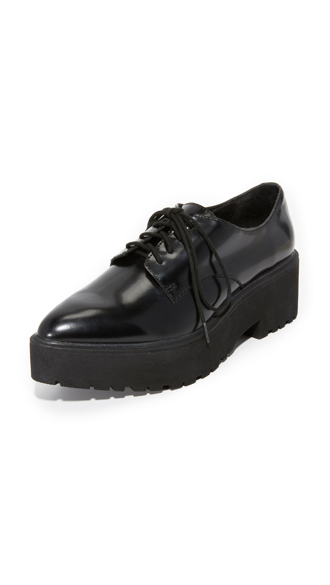 Jeffrey Campbell Bardem Platform Oxfords - Black Box at Shopbop