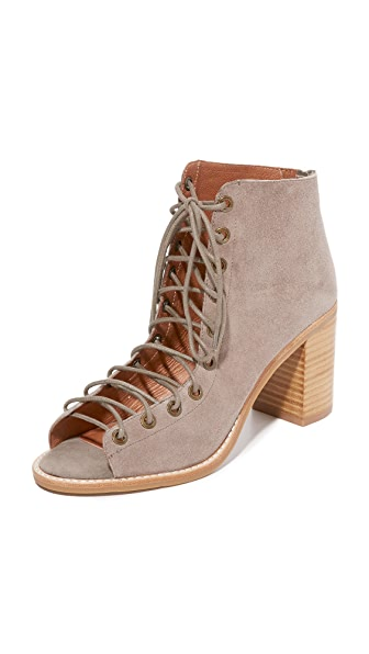 Jeffrey Campbell Cors Peep Toe Booties - Taupe