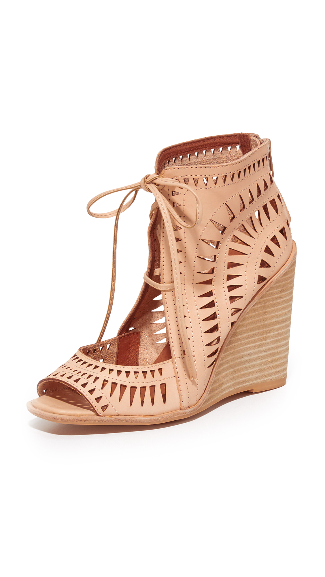 Jeffrey Campbell Rodillo Wedge Sandals - Nude