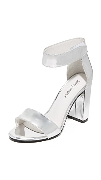 Jeffrey Campbell Lindsay Sandals - Silver Mirror