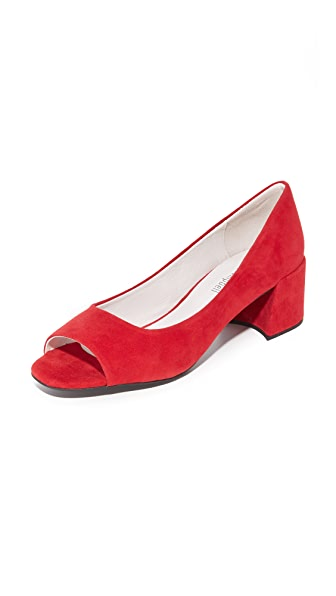 Jeffrey Campbell Buffy Peep Toe Pumps - Red