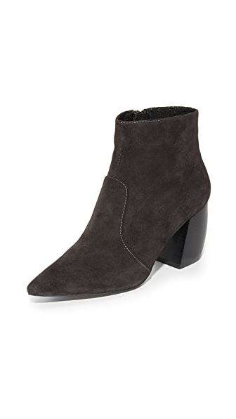 Jeffrey Campbell Dresden Suede Booties - Dark Grey
