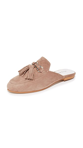 Jeffrey Campbell Apfel Tassel Mules - Taupe/Silver