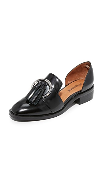Jeffrey Campbell Opencase d Orsay Flats - Black Box/Silver