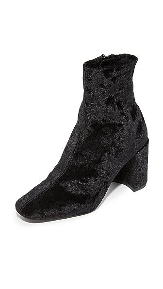 Jeffrey Campbell Cienega Lo Velvet Booties - Black Velvet