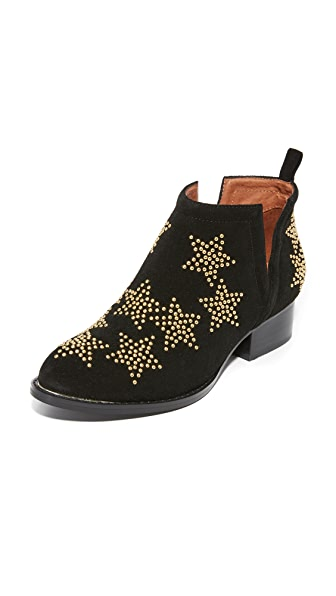 Jeffrey Campbell Starman Studded Booties - Black/Gold