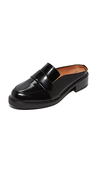 Jeffrey Campbell Keyer Loafer Mules - Black Box