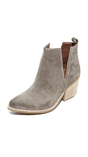 Jeffrey Campbell Asterial Embellished Booties - Taupe/Silver