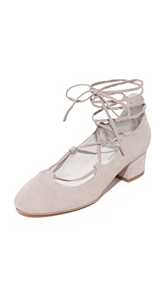 Jeffrey Campbell Aitana Lace Up Pumps - Grey