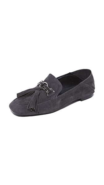 Jeffrey Campbell Didion Step Down Loafers - Dark Grey