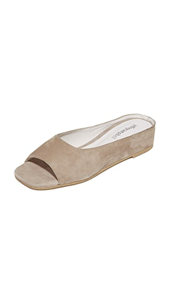 Jeffrey Campbell Del Mar Peep Toe Flats In Taupe