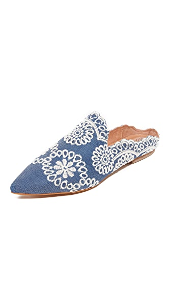 Jeffrey Campbell Sarika Embroidered Denim Flats