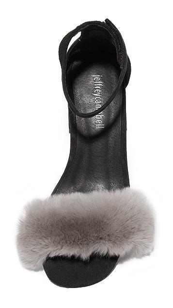 Jeffrey Campbell Fero Fur Sandals