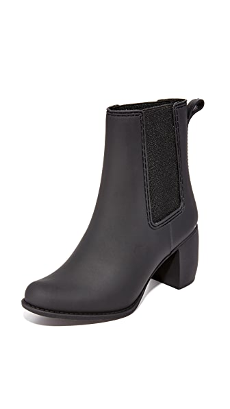 Jeffrey Campbell Clima Rain Booties - Black Matte