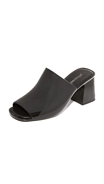 Jeffrey Campbell Petra Slides - Shiny Black