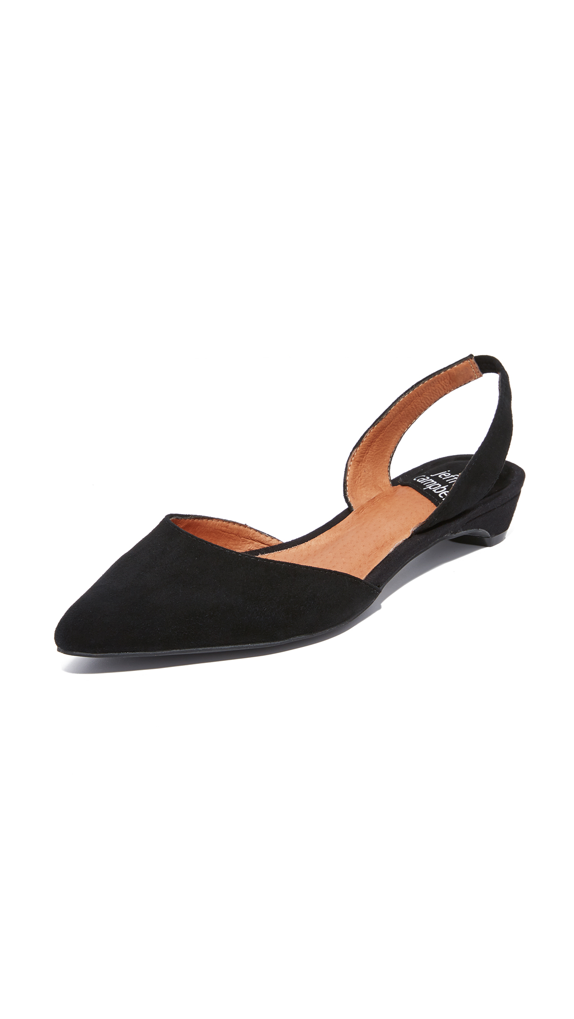 Jeffrey Campbell Shree Suede Flats - Black