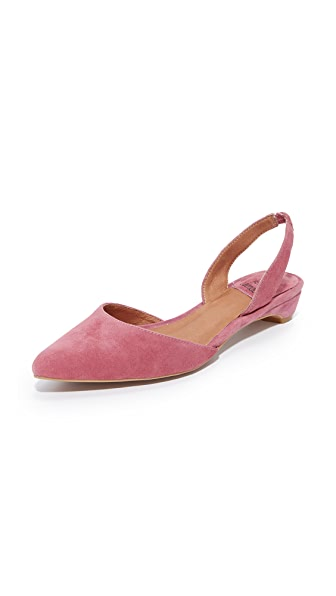 Jeffrey Campbell Shree Suede Flats - Dusty Rose Pink