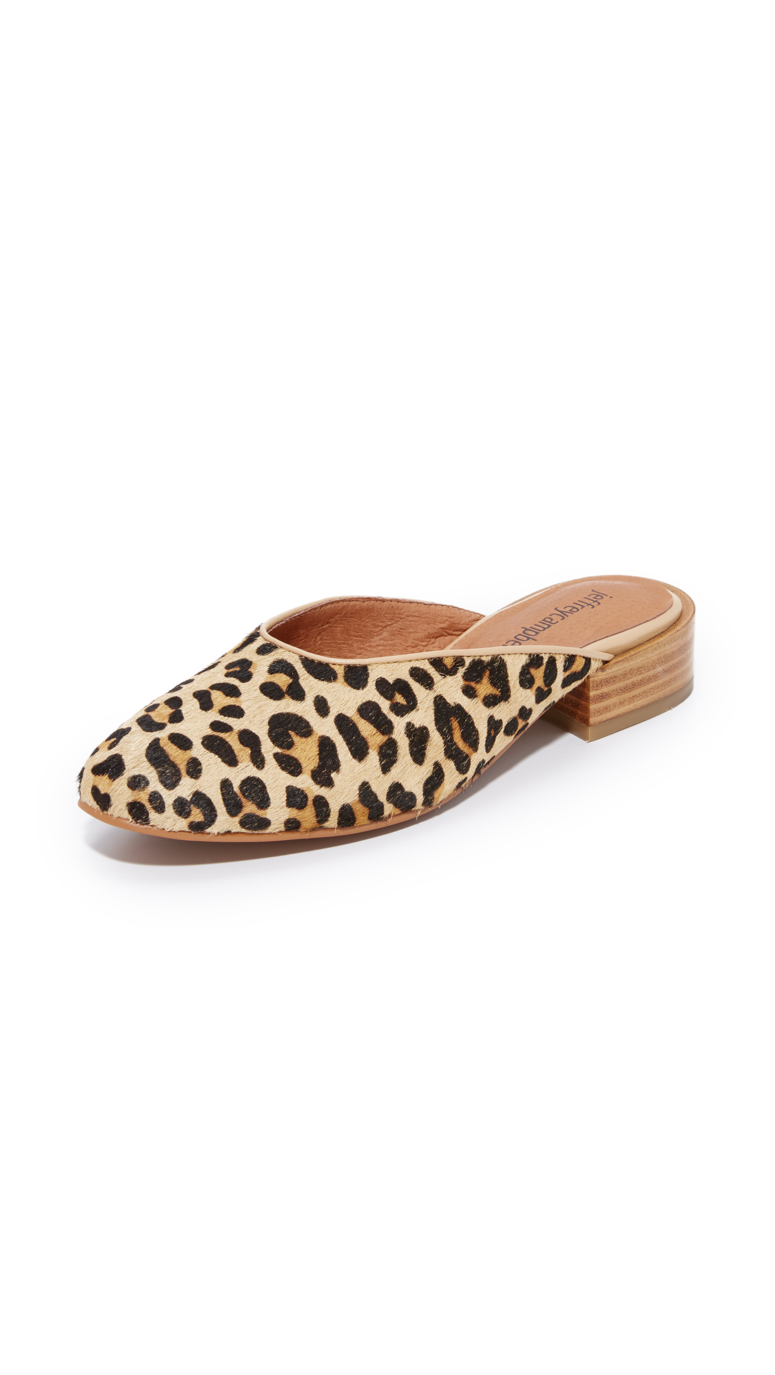 Jeffrey Campbell Mula Mules - Natural Cheetah