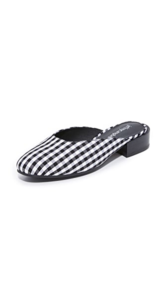 Jeffrey Campbell Mula Mules - Black & White Gingham