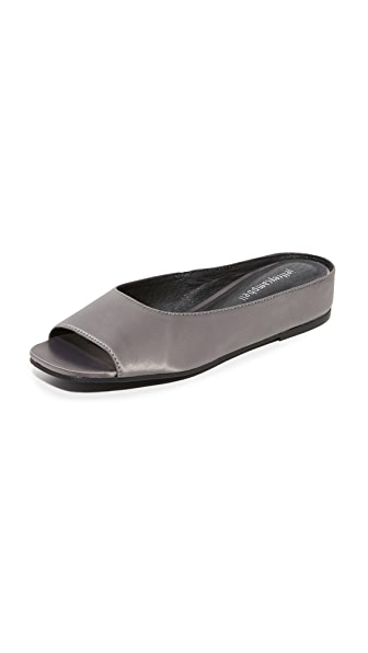 Jeffrey Campbell Del Mar Satin Flats - Pewter