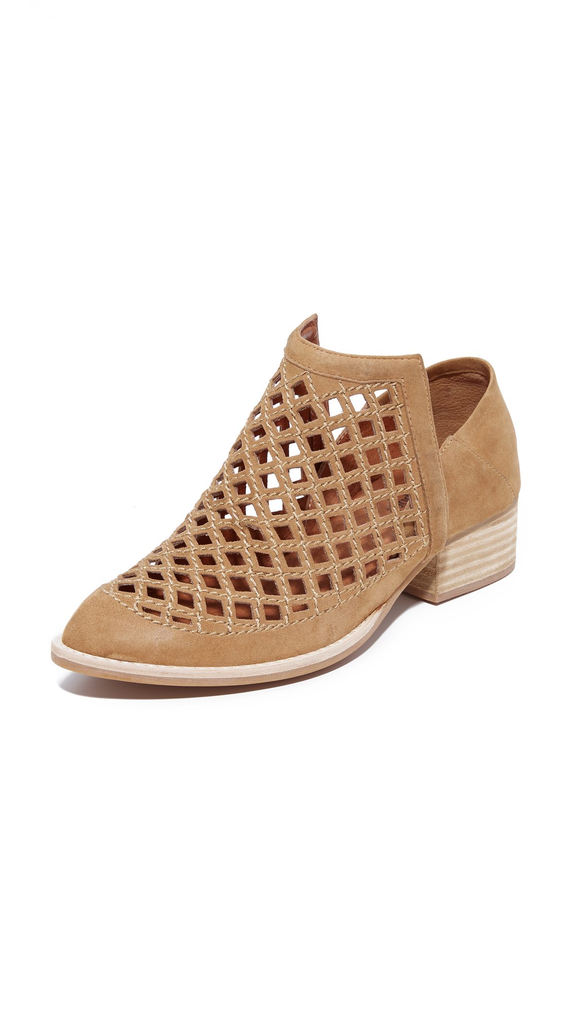 Jeffrey Campbell Tagline Step Down Booties - Camel