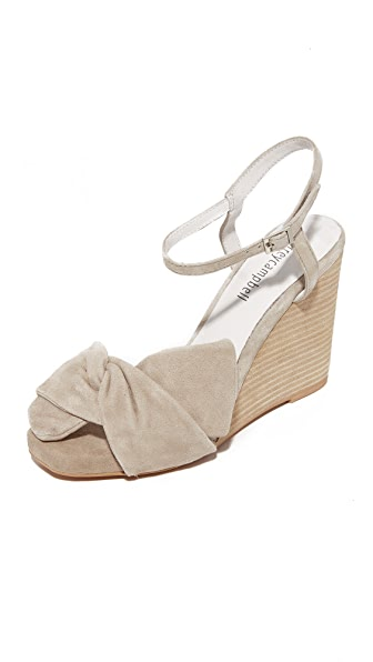 Jeffrey Campbell Envuelto Wedges - Nude