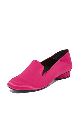 Jeffrey Campbell Symphony Step Down Loafers In Fuchsia