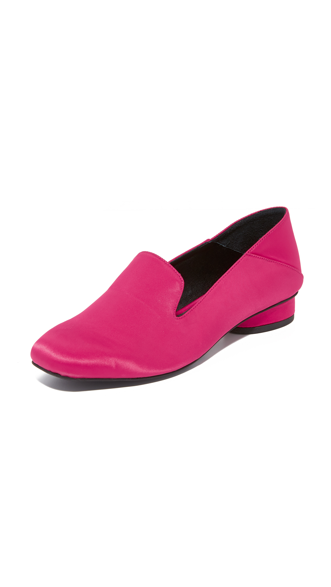Jeffrey Campbell Symphony Step Down Loafers - Fuchsia