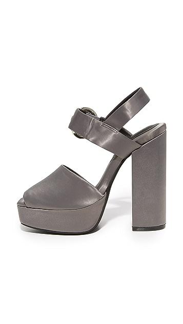 Jeffrey Campbell Mitra Satin Platform Sandals