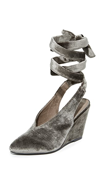 Jeffrey Campbell Verlina Wedges - Taupe
