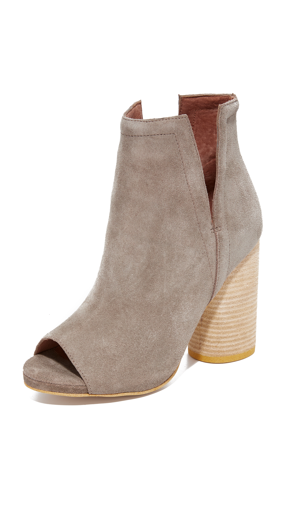 Jeffrey Campbell Oath Peep Toe Booties - Grey