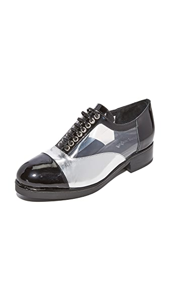 Jeffrey Campbell Meisel Oxfords - Black/Silver