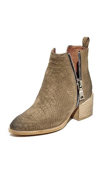 Jeffrey Campbell Boone Stacked Heel Booties - Khaki