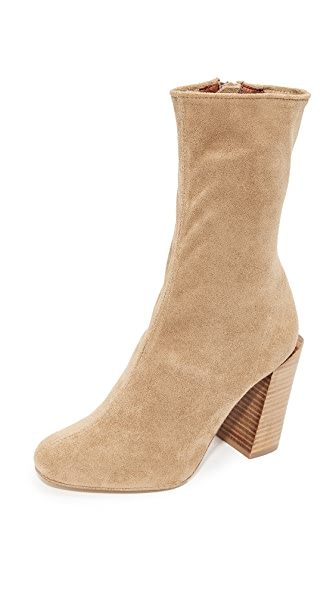 Jeffrey Campbell Perouze Stretch Ankle Booties - Tan