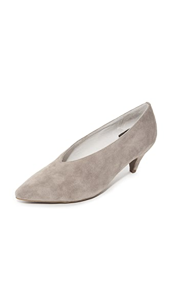 Jeffrey Campbell Carla Low Heel Pumps In Taupe