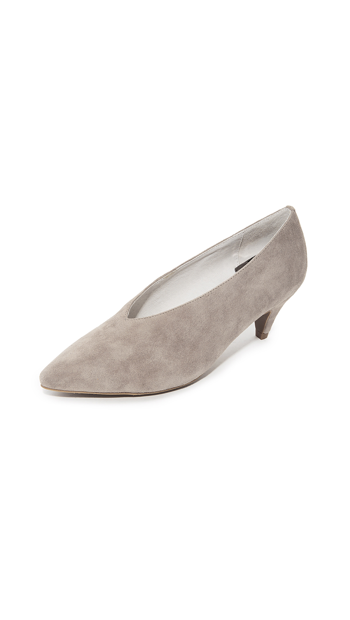 Jeffrey Campbell Carla Low Heel Pumps - Taupe