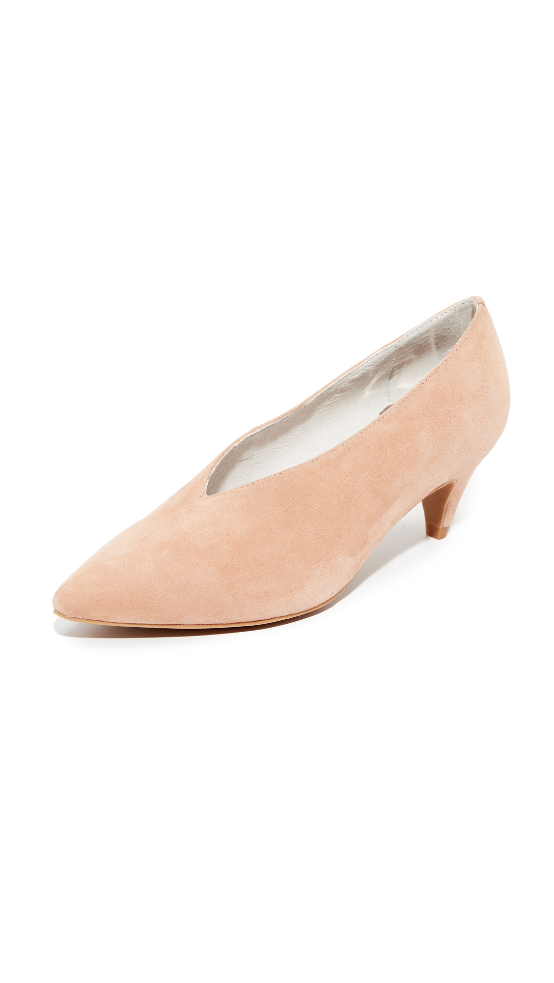 Jeffrey Campbell Carla Low Heel Pumps - Blush