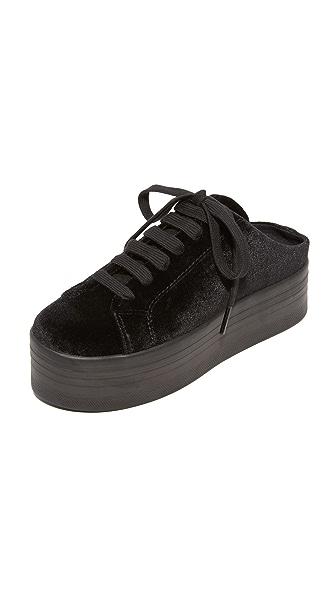 Jeffrey Campbell ZOMG Platform Sneaker Mules - Black